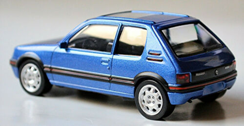 Peugeot 205 GTI 1,9 sedán 1986-92 azul Blue metallic 1:43 norev 430201