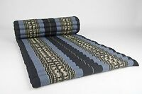 Roll Up Thai Mattress 100% Kapok Premium Grade Blue-dark Blue 69x30x2 Inch Mats