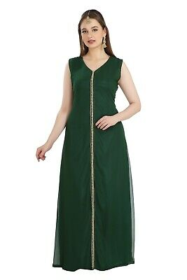 Dubai Maternity Gown Ladies Night Dress Soft Comfortable Maxi Robe Jalabiya 7838