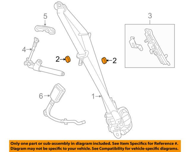 GM OEM Front Seat Belts-Belt /& Retractor Left 19351689