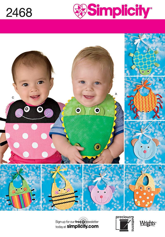 Nähmuster Simplicity 2468 Baby Lätzchen Einheitsgröße   eBay