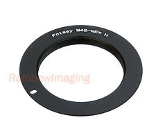 Slim 1mm M42 Lens to Sony E-Mount NEX Adapter (for use with Focusing Helicoid)