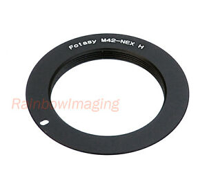 Slim-1mm-M42-Lens-to-Sony-E-Mount-NEX-Adapter-for-use-with-Focusing-Helicoid