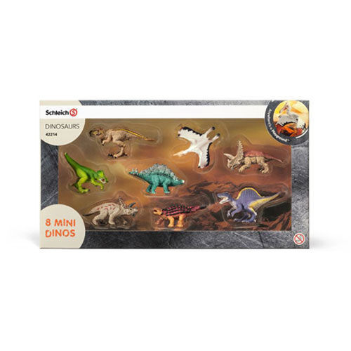 GERMANY SCHLEICH WORLD OF HISTORY MODEL SH42214 MINI DINOSAUR GROUPS (8 INTO)
