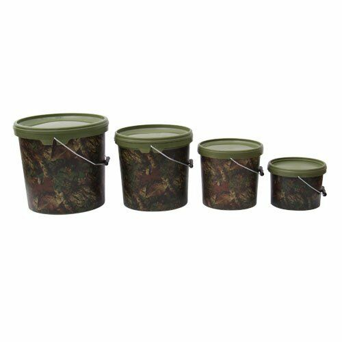 2 x GARDNER TACKLE 15ltr CAMO BUCKETS FOR CARP FISHING BRAND NEW