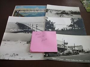 Vintage Ft. Worth Florida Photo Postcard Lot (6) - Unused & Used