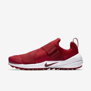 Nike Air Zoom Gimme Uomo's Spikeless Golf scarpe Team rosso bianca