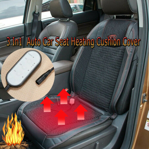1pc 3 In1  Car/&Office Seat Cover Cushion Mat Cooling Warm Heated Massage Pad