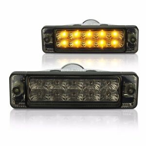 Dunkle-Klarglas-LED-Frontblinker-Polo-Golf-Jetta-1-2-mit-CL-Stossstange-034-Smoke-034