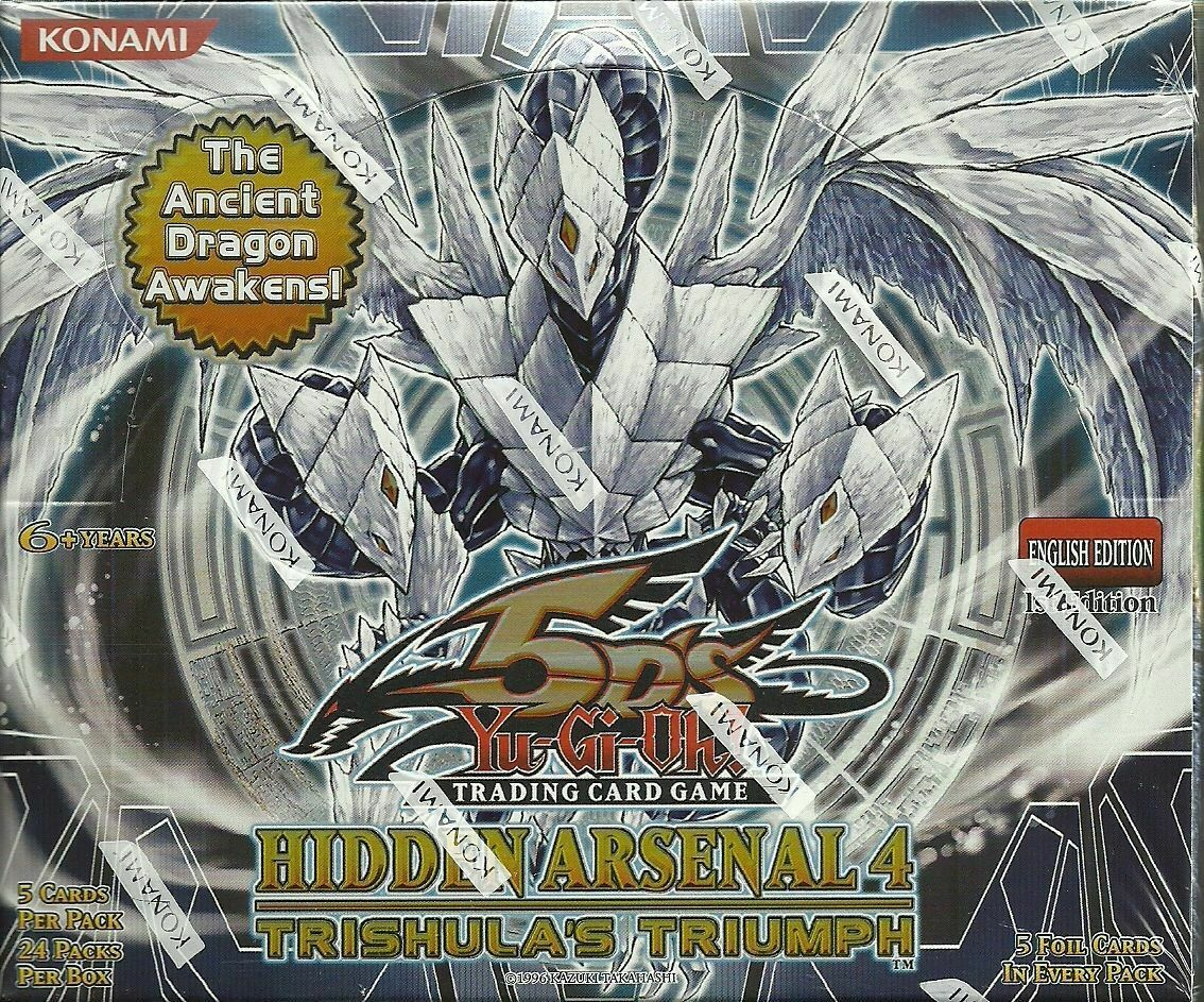 NEW Yu-Gi-Oh   Hidden Arsenal 4 Trishula's Triumph 1st Edition Booster Box
