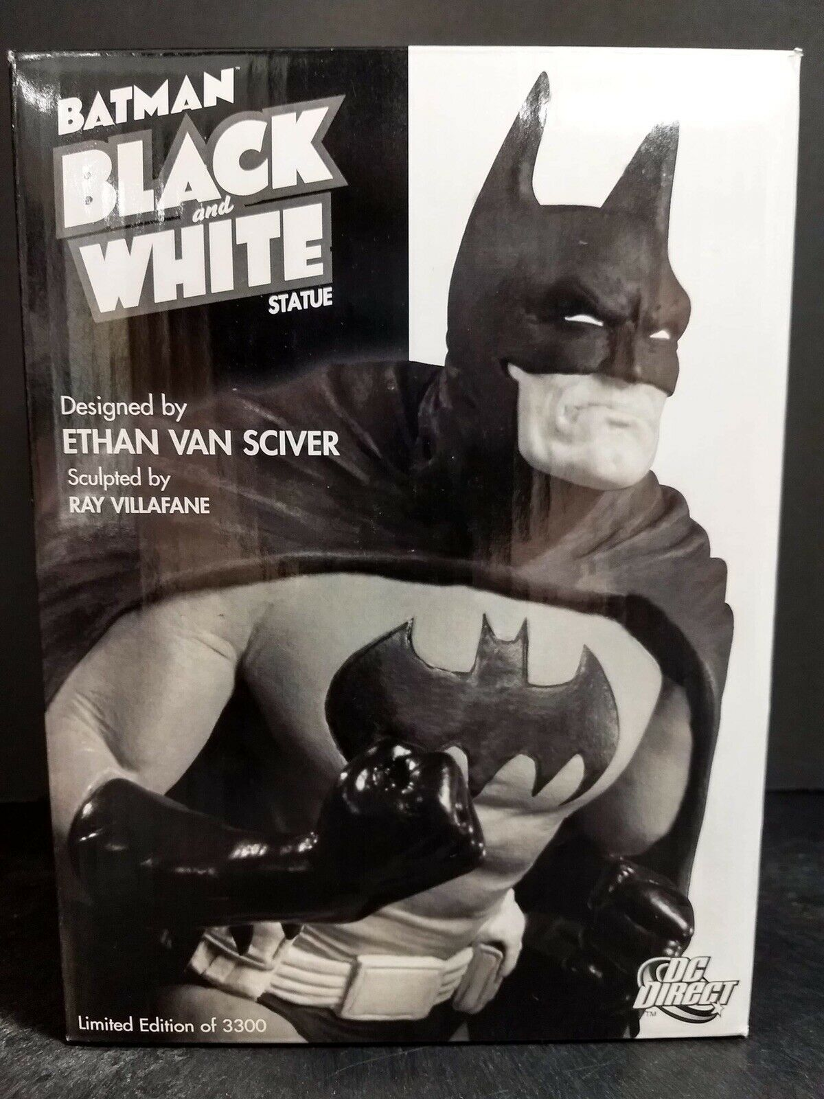 DC Estatua blancoo Y Negro De Batman Direct por Ethan Van Sciver Tamp 0081