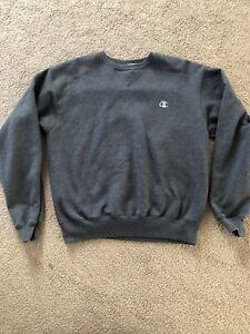 Champion Sweatshirt Vintage Gray MediumEbay Dark Crewneck Blank 6yfbIY7gvm