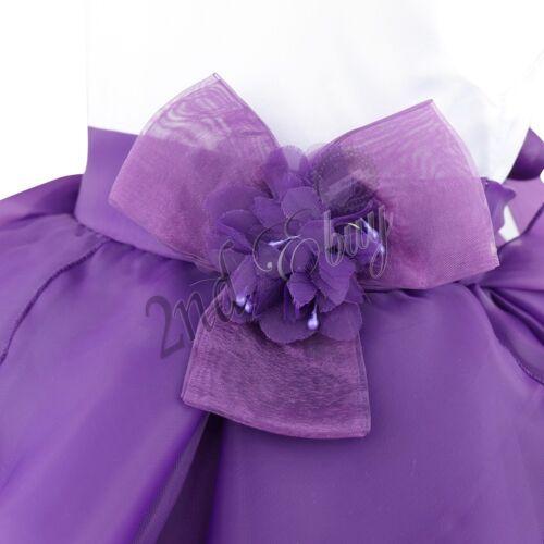 Newborn Baby Flower Girl Dress Children Formal Wedding Princess Tutu Party Dress