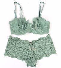 Victorias Secret  Dream Angels Multiway Bra Panty Set 32D,S White Black Lace