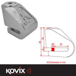Kovix Mini 6MM Moto Scooter Sécurité Bloque Disque Brossé Métal KNVfkmNa-09093256-477545192