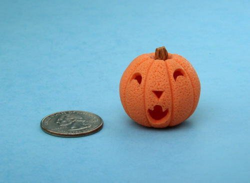 CUTE 1:12 Scale Dollhouse Miniature Carved Halloween Jackolantern Pumpkin #HOP10