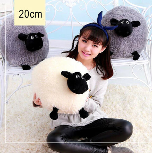 Plush Toys Cute Stuffed Soft Sheep Character Kids Baby Toy Gift Doll White//Gray