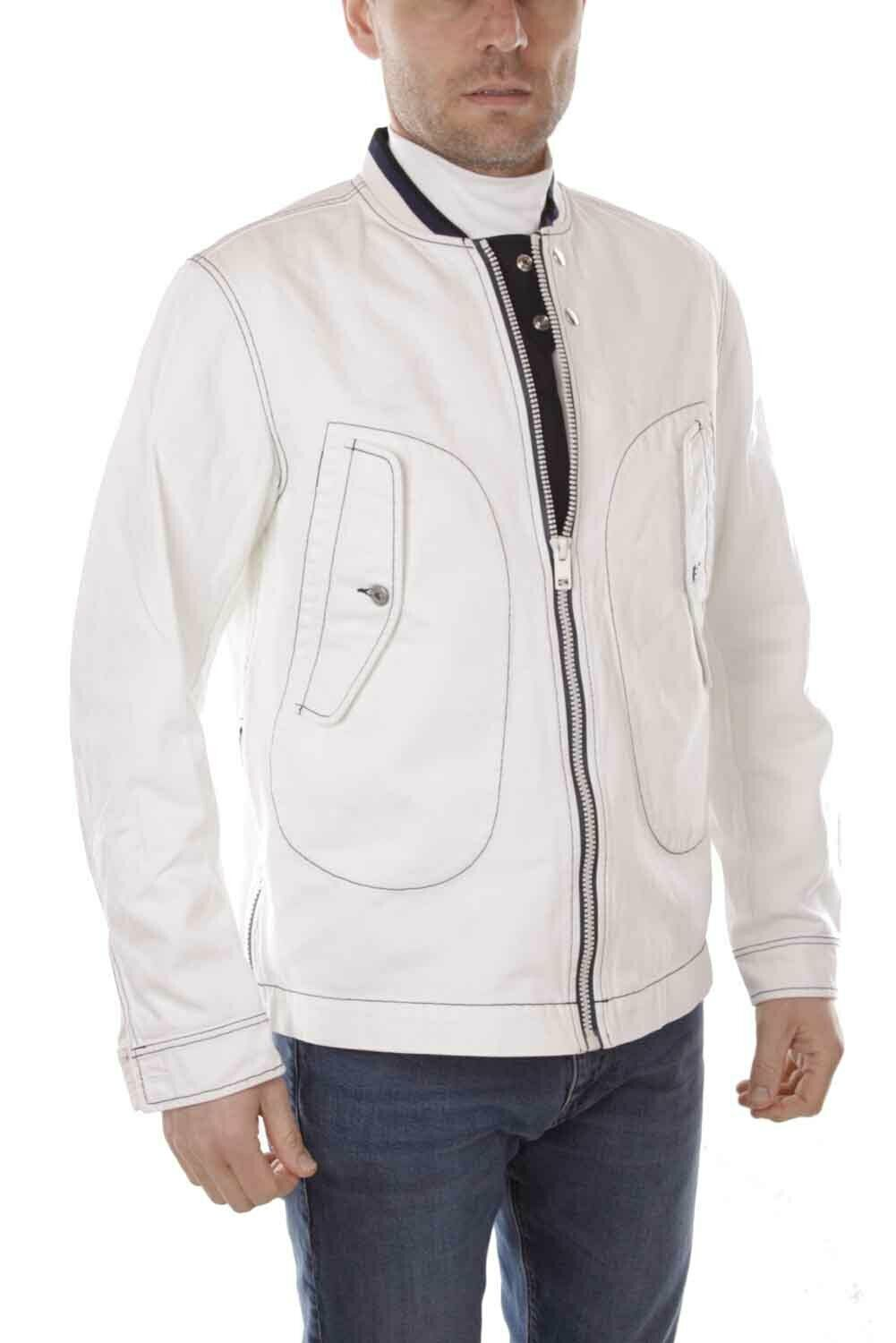 Diesel D-Darcy Giacca Hombre Denim Chaqueta whiteo size L