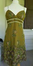 nwt BETSEY JOHNSON NY Vtg Retro Insp Printed Strappy Gauzy Crinkled Silk Dress