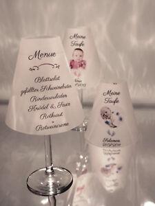 4-er-SET-Weinglaeser-Lampenschirm-Geburt-Hochzeit-Geburtstag-Konfirmation-Party