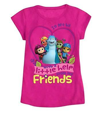 Beat Bugs Toddler Girls Graphic Characters T Shirt Pink NWT