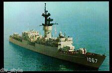 USS Francis Hammond FF-1067 postcard  US Navy warship Fast Frigate