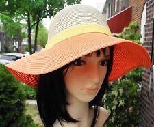 67818d01 ... Paper floppy wide brim sunBeach crushable Hat with bow. $16.95. Free  shipping. Easy Gardener Wide Brim Tangerine Orange Ladies Hat Sun Protective