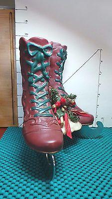 "Musical, Ice Skates, Christmas Decor, House of Lloyd, Plays ""Winter Wonderland"""