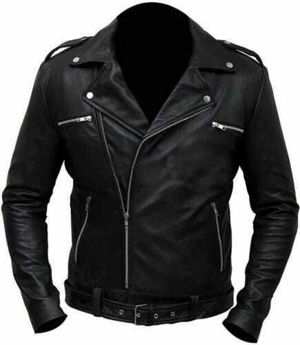 The Walking Dead Negan Jeffrey Dean Morgan Black Faux Leather Jacket All Sizes