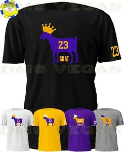 best service 186f8 f75b1 Details about Los Angeles Lakers Lebron James Goat King 23 Tee T Shirt Men  Size S-5XL Shadow