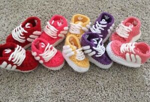 a5e17418979f Image is loading Adidas-Crochet-Baby-Shoes