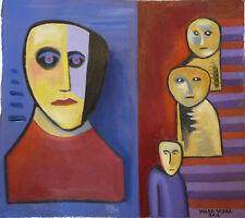 07- HILDA VIDAL Óleo sobre lienzo-Oil on canvas-Öl auf Leinwand-Huile sur toile