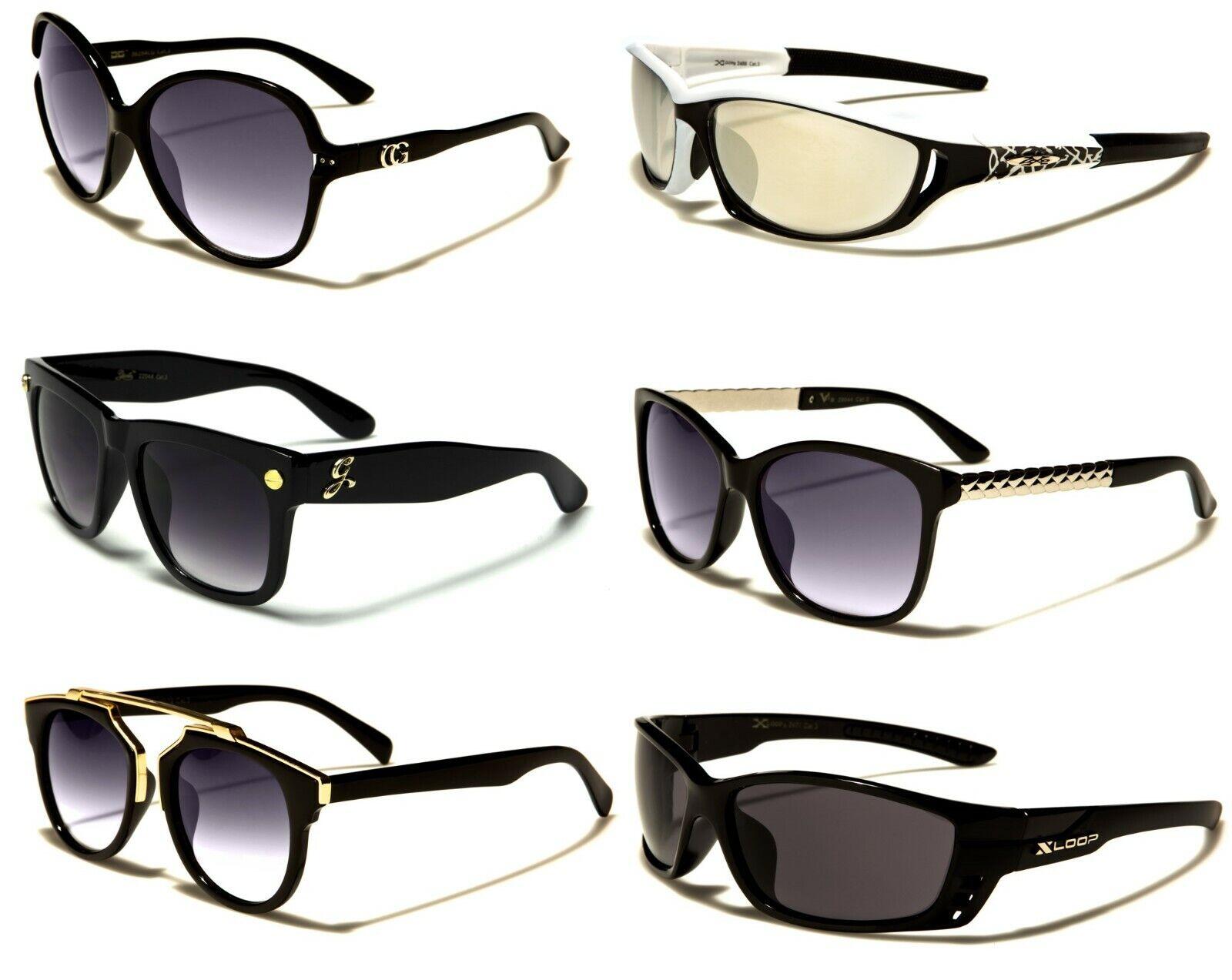 10x New Men Women Sport Square Xloop Giselle Wrap Black Blue UV400 Sunglasses 05