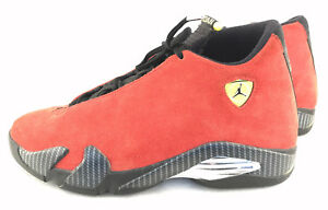 pretty nice a9199 b9a4c Image is loading Nike-Air-Jordan-Retro-14-Ferrari-Red-Suede-