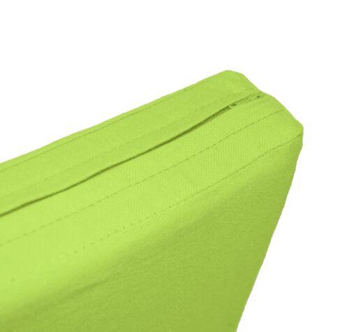Taille personnalisée * Aa189t Vert Pomme coton toile boîte 3D canapé siège Housse de coussin