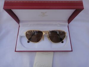 7c64e34257f Image is loading VINTAGE-CARTIER-PANTHERE-WINDSOR-57MM-CAT-EYE-SUNGLASSES-