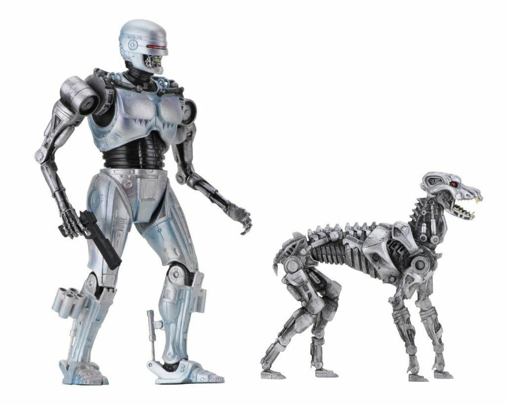Neca robocop vs terminator endocop cop & terminator hund actionfigur neue