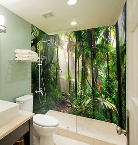 3d Green Rainforest 129 Wallpaper Bathroom Print Decal