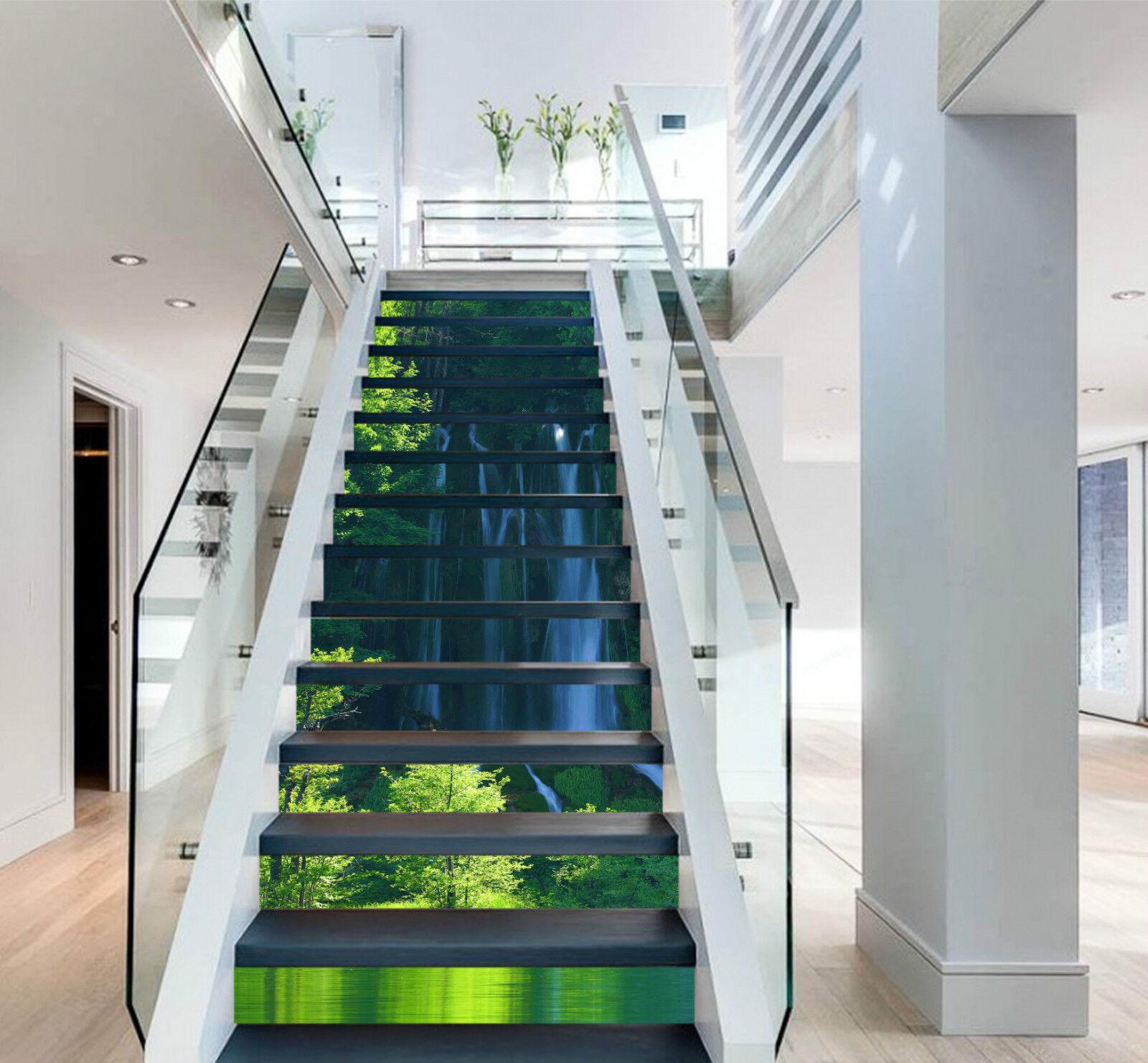 3D Wald Natur 242 Stair Risers Dekoration Fototapete Vinyl Aufkleber Tapete DE
