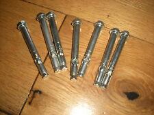 BULLONI di ancoraggio M6 argento testa esagonale lunghezza complessiva 65mm Confezione da 8
