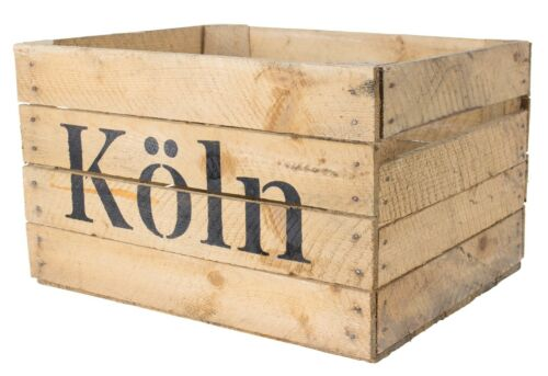 Stilvolle Regalkiste mit Aufdruck /'Köln/' 50x40x30cm// individuelles Regalsystem