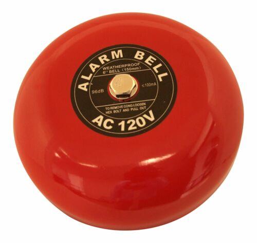 "Security Bell 120 volt ac Fire Alarm Bell 120 VAC 6/"""