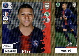 Panini-FIFA365-2019-Sticker-157-a-b-Kylian-Mbappe-Paris-Saint-Germain