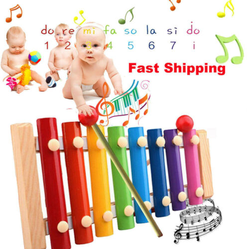 Child Melodious Baby Musical Toys Xylophone Wisdom Educational Wooden Instrument