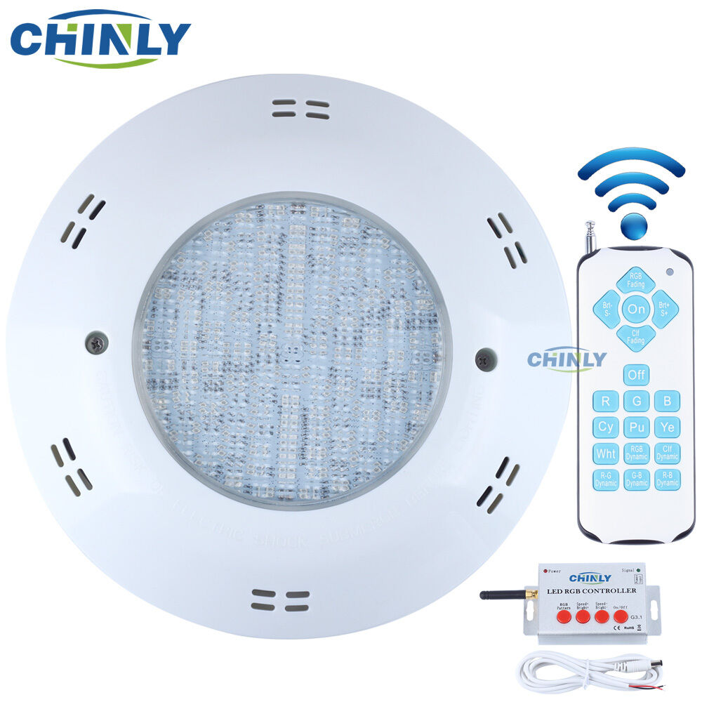 AC12V RGB LED Luz de Natación Piscina Spa IP68 Impermeable Submarina Luces 18W 25W