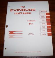 Vintage 1967 Evinrude Service Manual 6 Hp Brand Mint