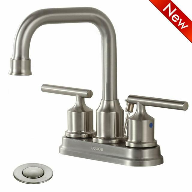One Handle Bathroom Faucet With Pop Up Drain, Two Hole Basin DICA 4422 For  Sale Online | EBay