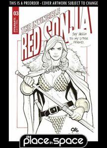 (WK28) INVINCIBLE RED SONJA #3D - CHO - PREORDER JUL 14TH