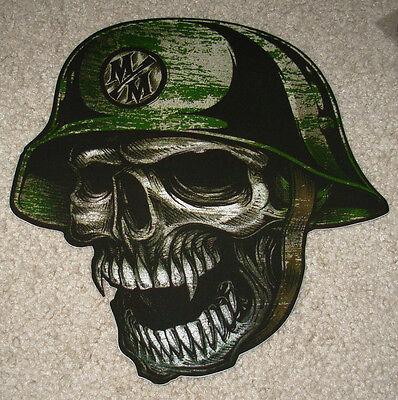 "METAL MULISHA Skull Helmet Fang Skate Sticker 10/"" motocross skateboard decal"
