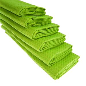 6x Torchon 100/% Coton Gaufre-Piqué Vert Küchentuch Chiffon Set Vert Clair
